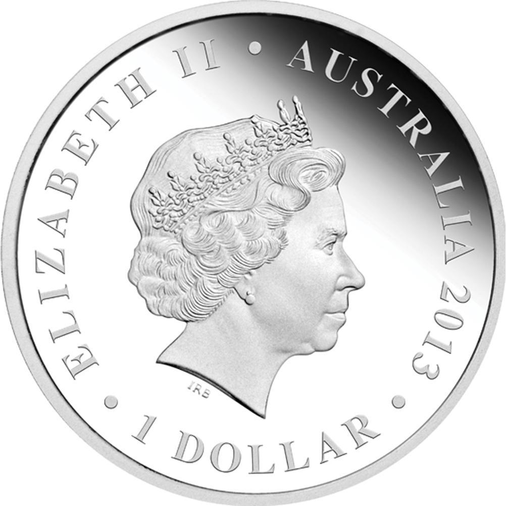 Stříbrná mince -SYDNEY OPERA HOUSE 2013 1OZ PROOF - Rub