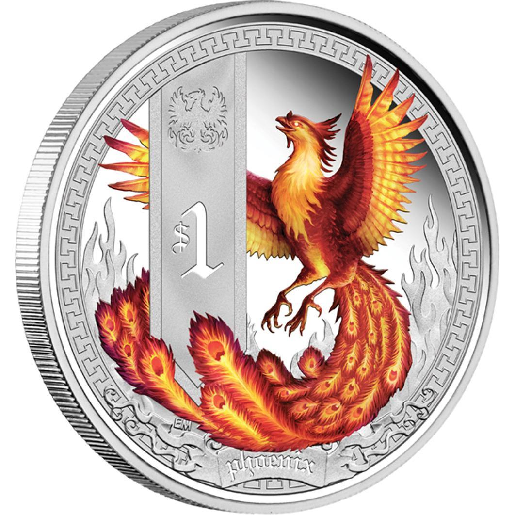 Mythical Creatures – Phoenix 2013 1oz Silver Proof Coin - Líc