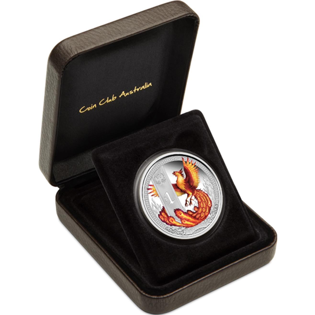 Mythical Creatures – Phoenix 2013 1oz Silver Proof Coin - V dárkové kazetě