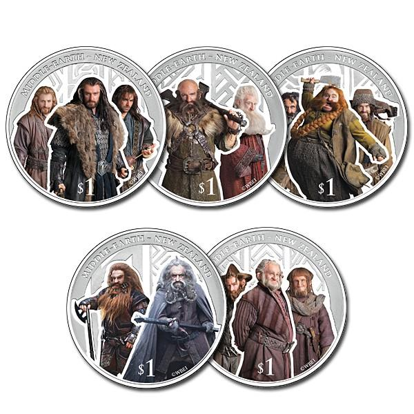 The Hobbit: The Desolation of Smaug Silver Coin Set - Líc