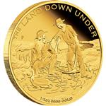 """The Land Down Under - Zlatá horečka 2014 1/4 OZ - Líc"