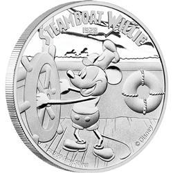 Stříbrná mince Disney - parník Willie 2014 1 Oz  Proof  - Líc