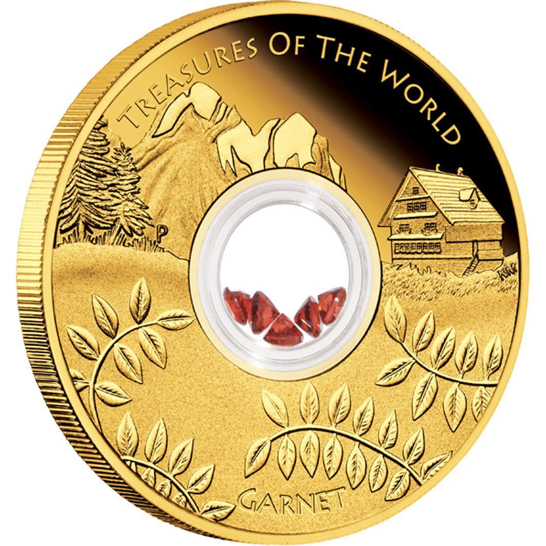Zlatá mince Europe 2013 1oz Proof s granáty - líc