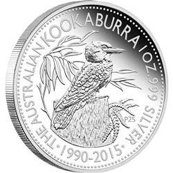 Stříbrná mince World Money Fair - Berlin Coin Show Special - 25 výročí Australský ledňáček 2015 1oz  Proof  - Líc