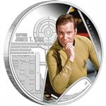 Stříbrná mince Star Trek The Original -  Kapitán James T. Kirk 1oz  Proof 2015 - líc