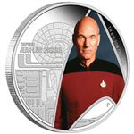Stříbrná mince Star Trek The Next Generation -  Kapitán Jean- Luc Picard 1oz  Proof 2015 - Líc