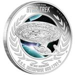 Stříbrná mince Star Trek The Next Generation -  U.S.S. Enterprice NCC-1701- D 1oz  Proof 2015 - Líc