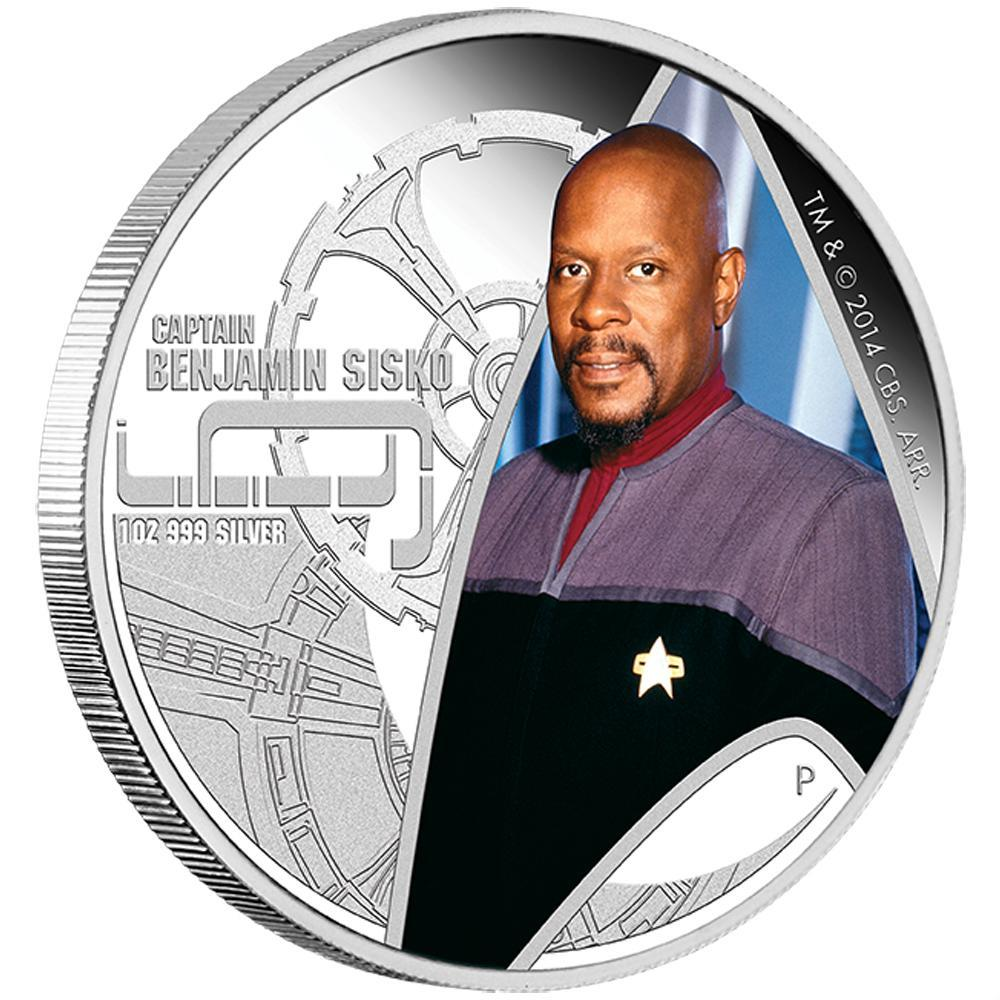Stříbrná mince Star Trek: Deep Space Nine -  Kapitán Benjamin Sisko  1oz  Proof 2015 - Líc