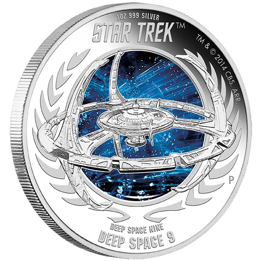 Stříbrná mince Star Trek: Deep Space Nine -  Deep Space Nine 9  1oz  Proof 2015 - Líc