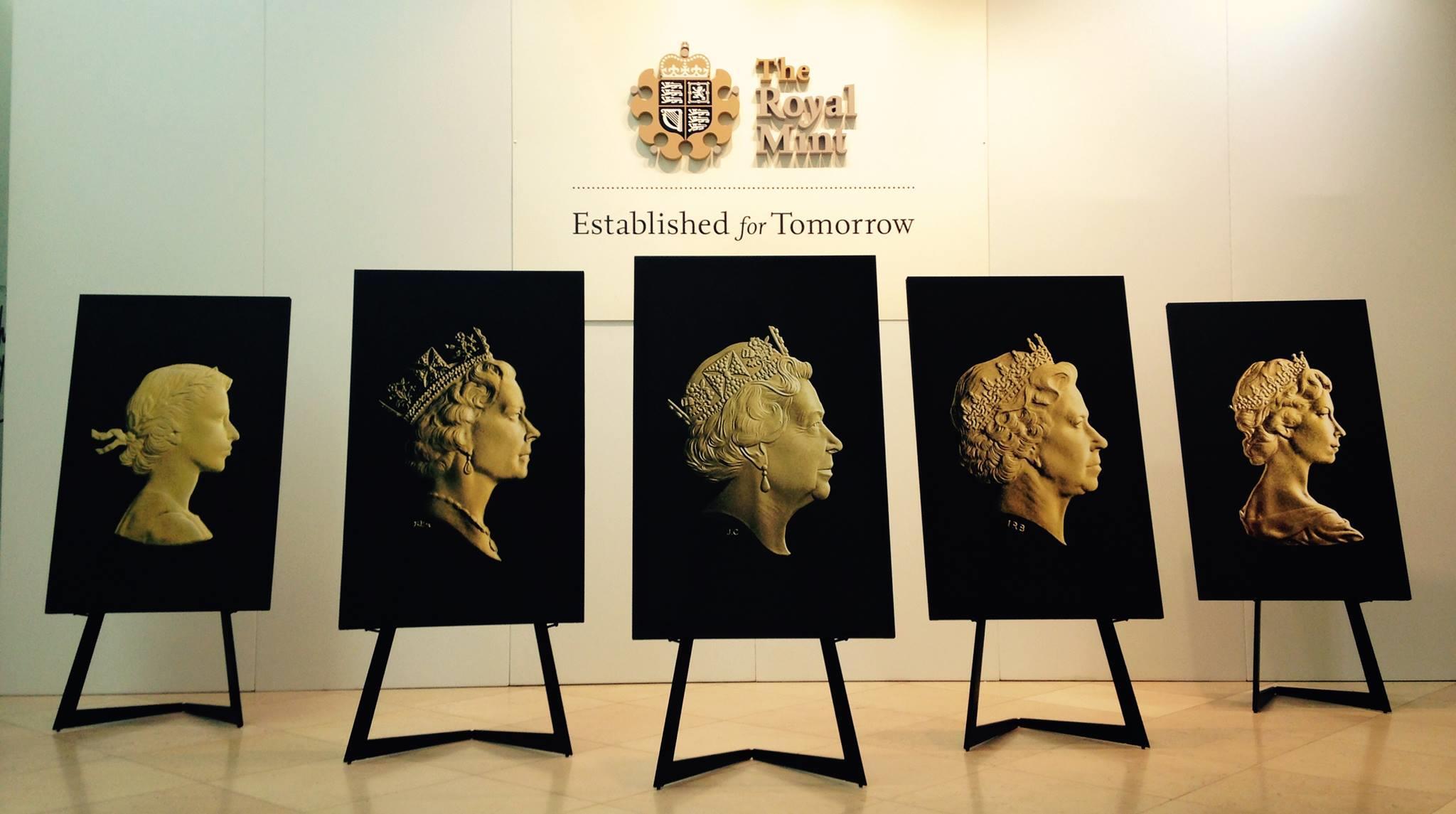 Přehled mincovních portrétů královny Alžběty II