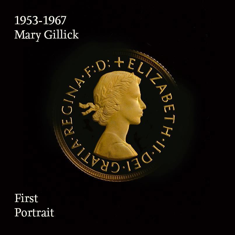 Mincovní portrét královny Alžběty II 1953-1967