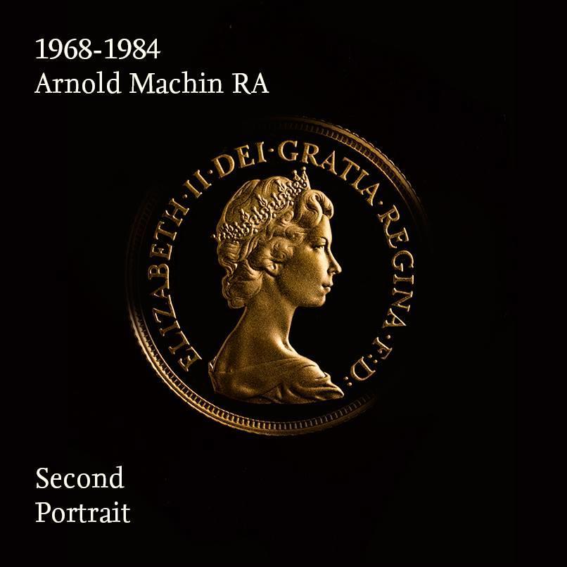 Mincovní portrét královny Alžběty II 1968-1984