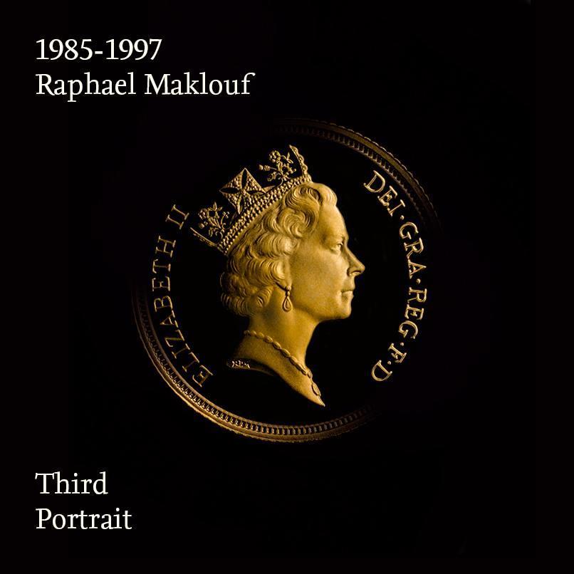 Mincovní portrét královny Alžběty II 1985-1997