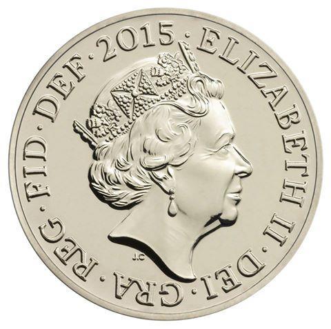 Nový mincovní portrét královny Alžběty II