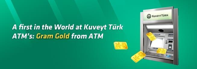 Bankomat vydává i zlaté mince